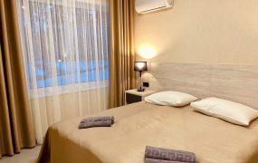 «Причал» 1-этажный двухкомнатный комфортабельный коттедж (№ 15)